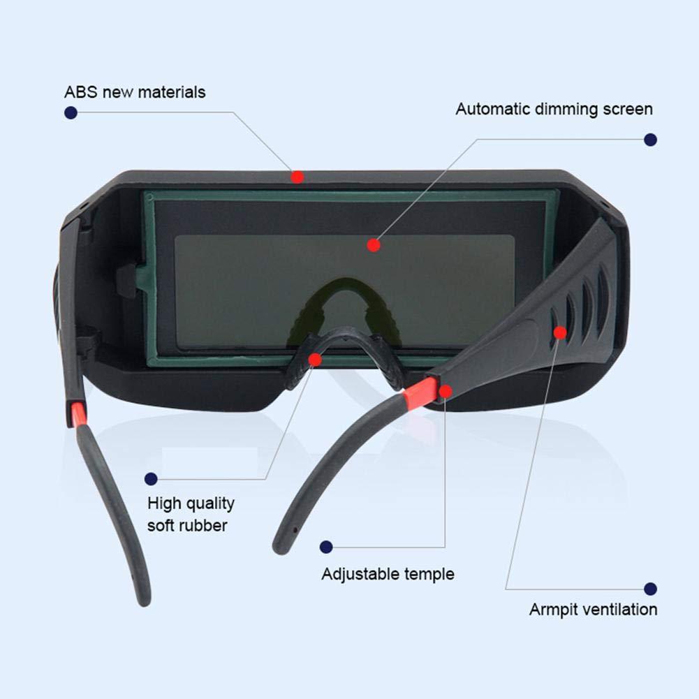 Gafas de protecci/ón solares oscurecimiento autom/ático TIG MIG MMA para soldar Fewao Gafas de soldar autom/áticas solares