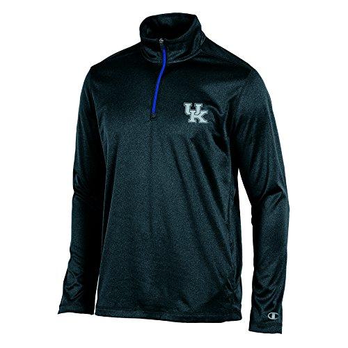 Kentucky Wildcats Light (NCAA Kentucky Wildcats Men's Lightweight Quarter Zip W Jacket, Black Heather, Small)