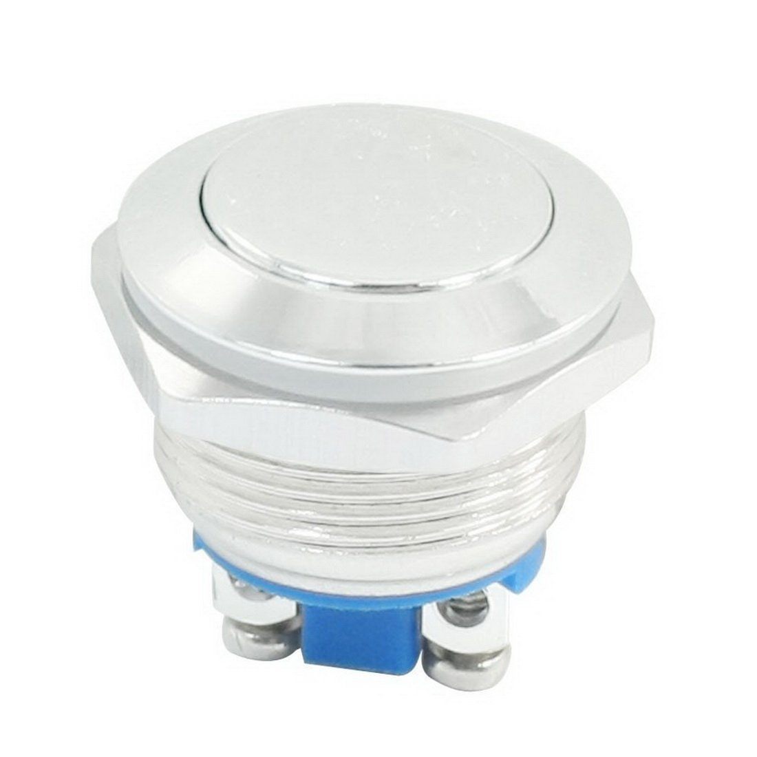 WerFamily 19mm Waterproof Momentary Type Stainless Steel Metal Push Button Switch High Flush Resetable 250V 3A 1NO SPST