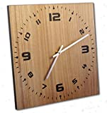 made in usa wood clock - Wall Clock, 12 Inch, Solid Wood, Non-Ticking, Silent, Made In USA