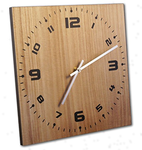 Wall Clock, 12 Inch, Solid Wood, Non-Ticking, Silent, Made In USA