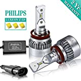 iBrightstar H11 H9 H8 LED Headlight Bulbs Conversion Kit - Philips ZES 8,000lm 6000K Cool White - 2 Yr Warranty
