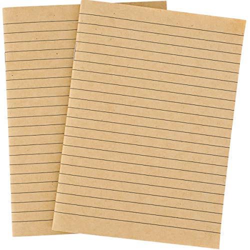 (Paper Junkie 12-Pack Mini Kraft Composition Pocket Journal Notebooks, 32 Sheets Each, 5.5 x 4 Inches)