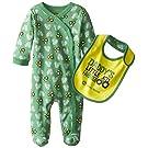 John Deere Baby-Boys Newborn Daddy's Little Farmer Coverall Set, Green, 3-6 Months
