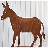 Deko Esel aus Edelrost, Tierfiguren aus Metall (2)