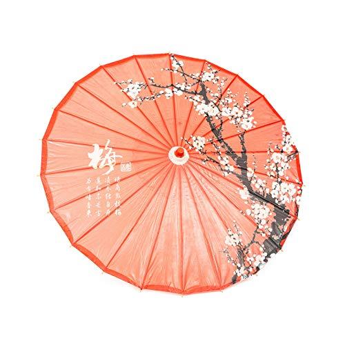 Umbrella Oiled Paper - ASIAN HOME Rainproof Handmade Chinese Oiled Paper Umbrella Parasol 33