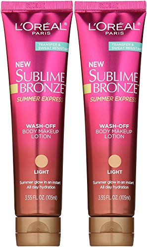 (L'Oreal Sublime Bronze Summer Express Wash-Off Lotion in Light, 3.55 Fl Oz (2-Pack))