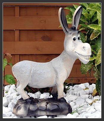 Fachhandel Plus Esel lustige Deko Figur Gartenfigur Tierfigur Dekoration f/ür Innen und Au/ßen