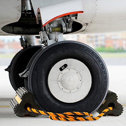 Approved for Automotive AFA Aircraft Wheel Chocks All Weather Safety Reflected 29 Inch Tethered for Small Airplanes by Approved for Automotive (Image #4)