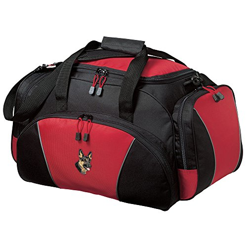 Embroidered Duffle Bags - Cherrybrook Breed Embroidered Duffel Bags -