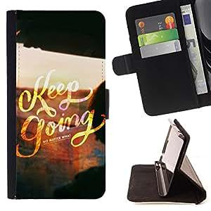 Dragon Case- Caja de la carpeta del caso en folio de cuero del tir¨®n de la cubierta protectora Shell FOR Samsung Galaxy S5 V SM-G900 G9009 G9008V- Keep going