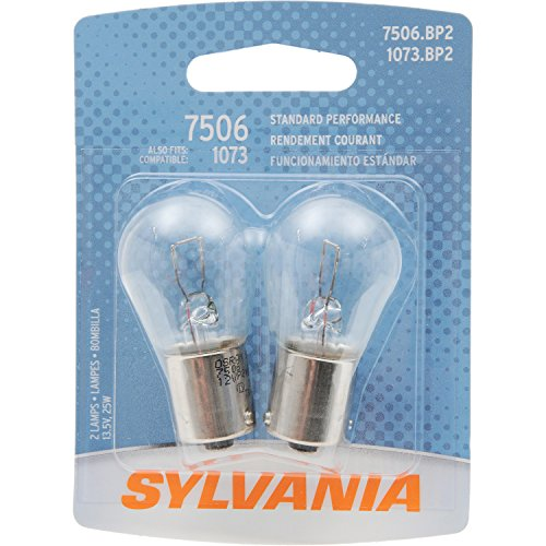 - SYLVANIA 7506 Basic Miniature Bulb, (Contains 2 Bulbs)