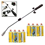 Butane Gas Weed Wand Blowtorch Garden Torch Weeds Killer Burner + 8 Gas Refills