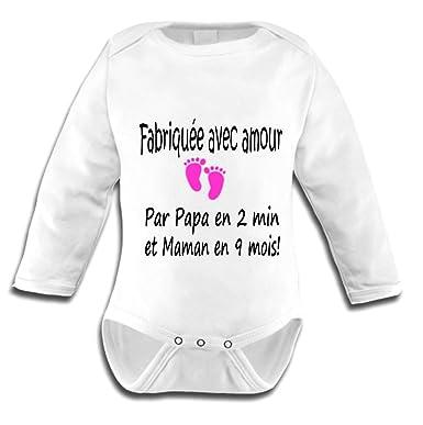 Les lutins de Camille-Body bébé Humour pour Fille Fabriquée avec Amour (0  Mois c202b063ce8