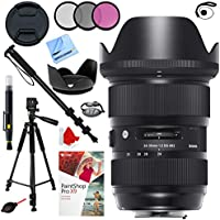 Sigma 24-35mm F2 DG HSM Standard-Zoom ART Lens for Canon SLR EF Cameras Plus 82mm Accessories Bundle