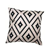 Iuhan® Fashion Geometric Argyle Linen Throw Pillow Case Cushion Cover Home Decor