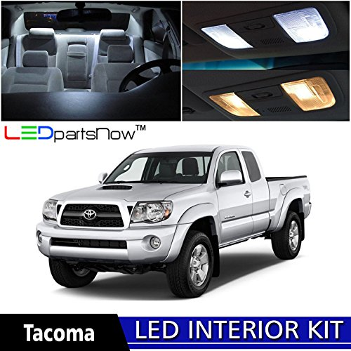 LEDpartsNow 2005-2015 Toyota Tacoma LED Interior Lights Accessories Replacement Package Kit (7 Pieces), WHITE