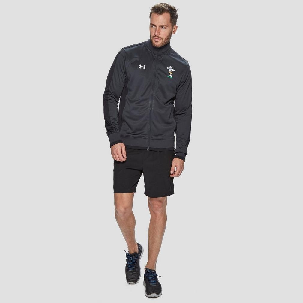 Under Armour 2018-2019 Wales Rugby WRU Track Jacket Anthracite