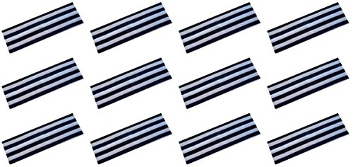 Navy Blue Striped Headband - Official Funny Girl 1 Dozen 2.5 Inch Soft and Stretchy STRIPED Cotton Headbands (NAVY)