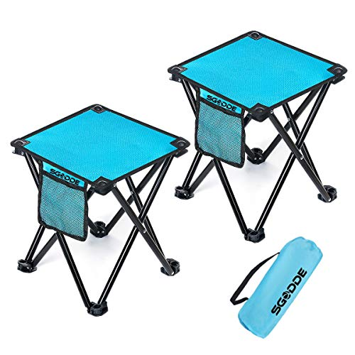 SGODDE Camping Stool, 2 Pack Portable Folding Stool with Carry Bag for Outdoor Activities Camping Fishing Hiking