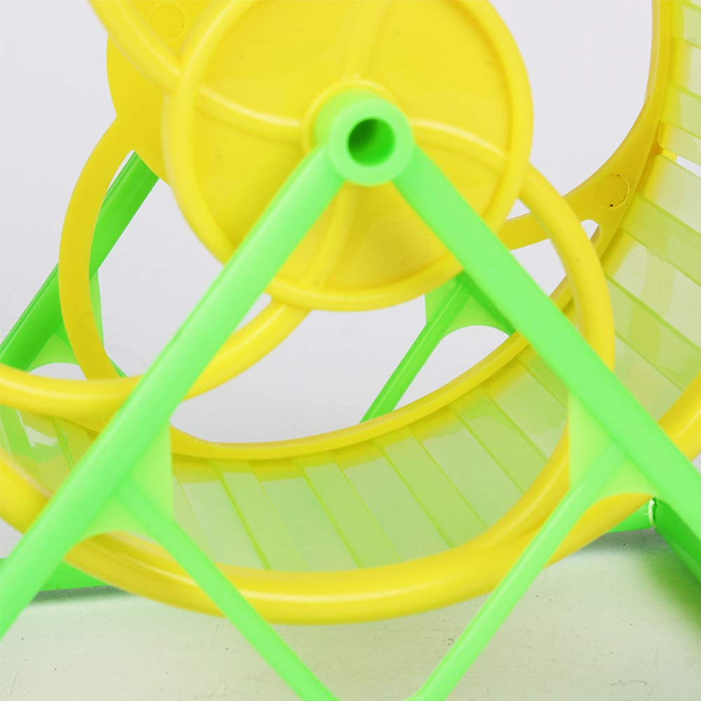 Unicoco Hamster Running Wheel Animal Jogging Sport Toy Interactive Pet Exercise Toy Mouse Running Spinner