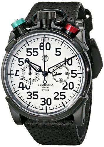 CT Scuderia Men's CS20101 Analog Display Swiss Quartz Black Watch