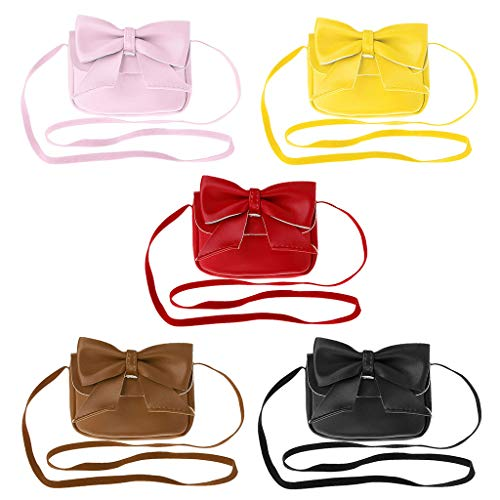 Girl Crossbody à Senoow Messenger Bandoulière Kids Bowknot Yellow Lovely Purses Sac Petit Portefeuille Tax1ngwqx
