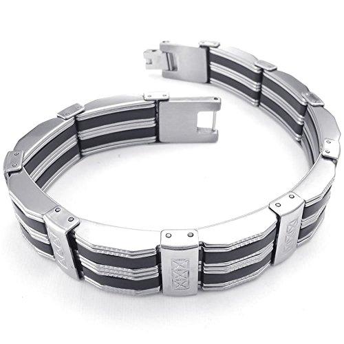 KONOV Stainless Bracelet Bangle Silver