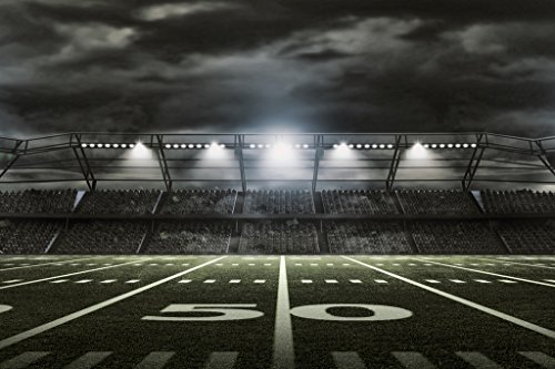 - American Football Stadium Rendering 50 Yard Line Poster 18x12 inch