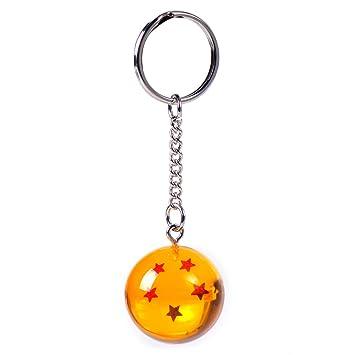 Llavero Netronic, acrílico, 2,7 cm, diseño de estrellas de Dragon Ball Z, 5 stars
