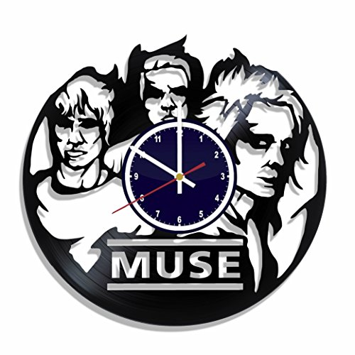 Muse Rock Band (Wall clock Muse rock band made from real vinyl record, Muse wall poster, Muse decal, best gift for Muse fans)