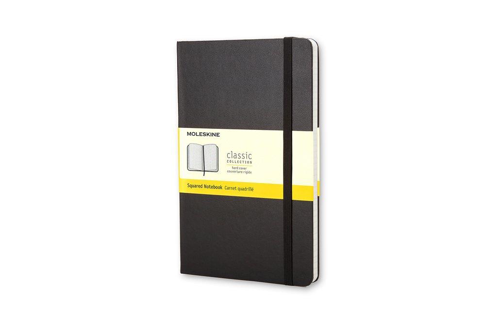 Moleskine Classic Notebook, Pocket, Squared, Black, Hard Cover (3.5 x 5.5)