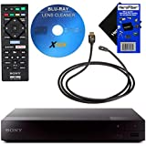 Sony BDPS3700 Blu Ray Disc Player with Built in WiFi + Remote Control, Bundled with Xtech Blu-ray Maintenance Kit + Xtech High-Speed HDMI Cable with Ethernet + HeroFiber Gentle Cleaning Cloth