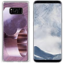 Luxlady Samsung Galaxy S8 plus Clear case Soft TPU Rubber Silicone IMAGE ID 26037820 Iron heart for cooking over wooden background