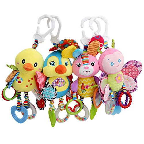 casa shop Plush Toy Teether With Sounds Infant Stroller/Bed/Crib Hanging Toys