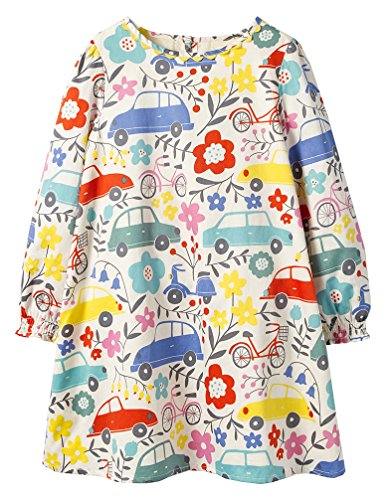 GSVIBK Kid Girls Cotton Dress\