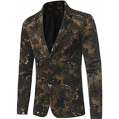 Hot ONTBYB Mens Camouflage 2 Button Notched Lapel Slim Fit Blazer Suit Coat supplier