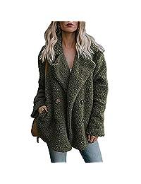 Women Winter Warm Coat,Vanvler Ladies Lapel Parka Outwear Open Front Jacket Pockets
