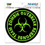 Zombie Outbreak Response Team Green - Circle MAG-NEATO'S™ Automotive Car Refrigerator Locker Vinyl Magnet