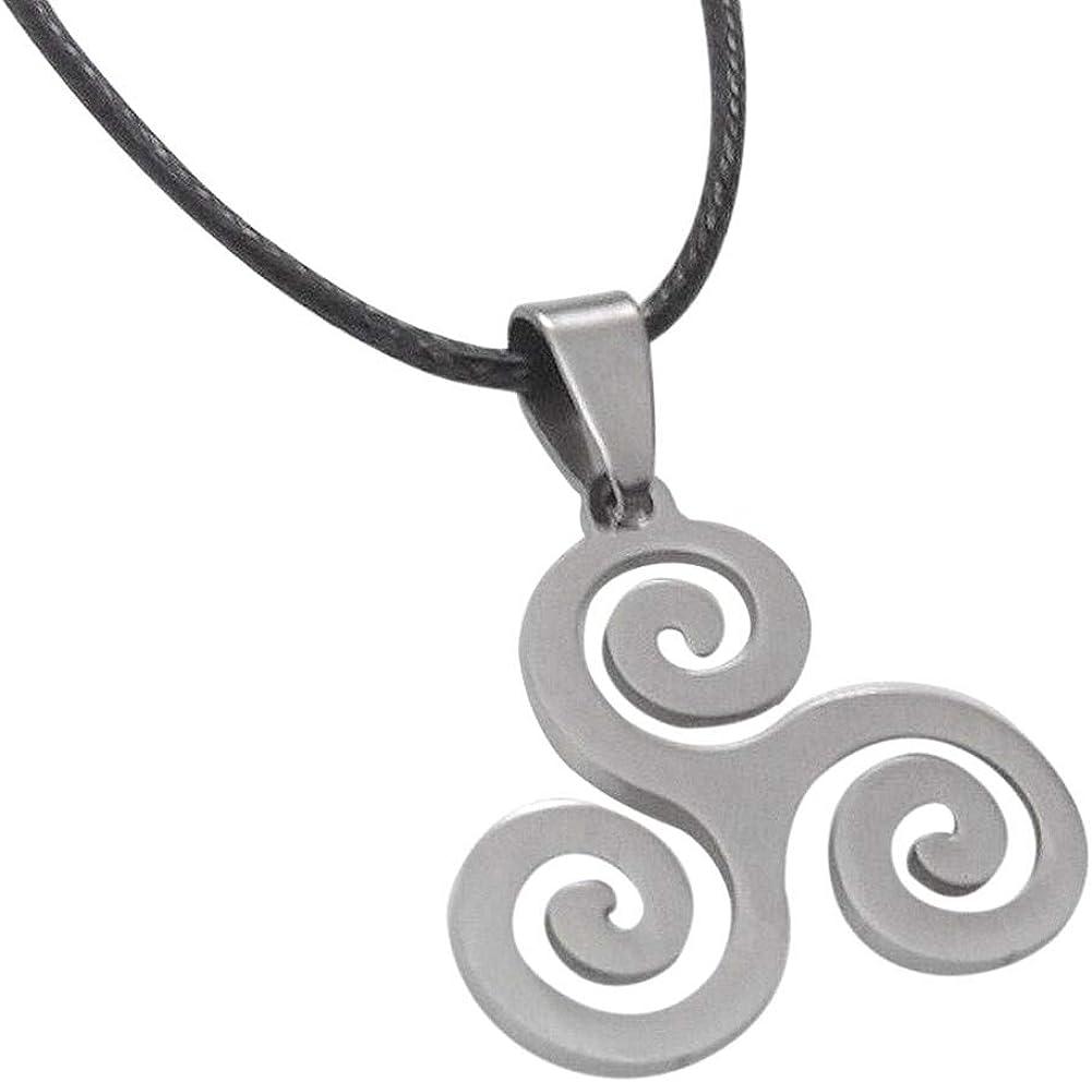 Colgante de acero pulido en forma de trisquel celta Calidad A++.