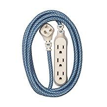360eléctricos 360422hábitat Accent trenzada cordón de extensión, 8'–Campos de amapola, Harmony, 8 ft