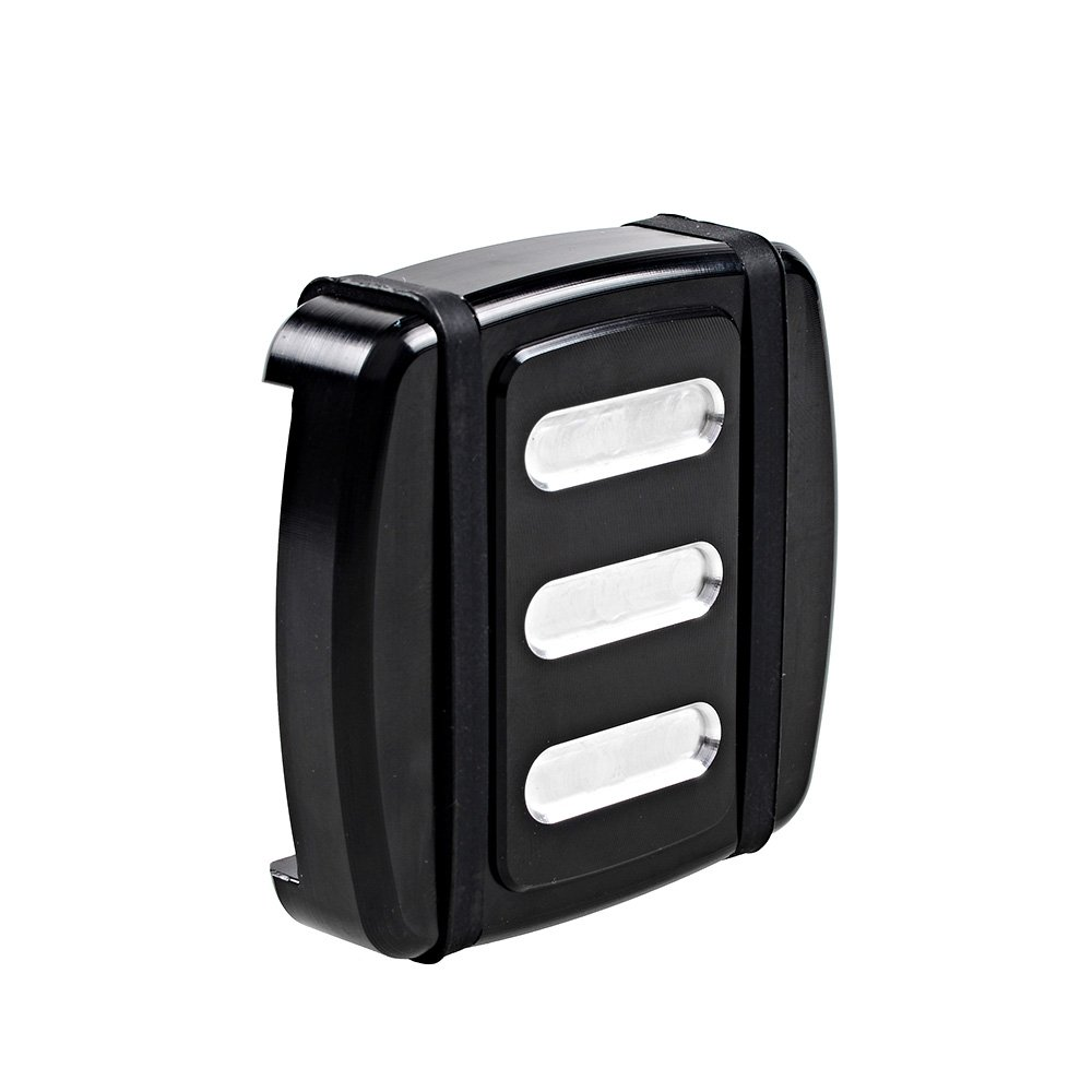 Astra Depot Black CNC Edge Cutting Skidproof Rear Brake Pedal Pad Cover for Harley Dyna FX Softail XG