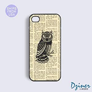 iPhone 4 4s Case - Newspaper Owls iPhone Cover