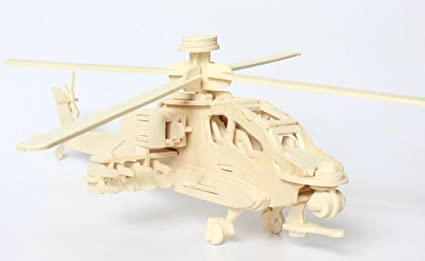 4 x 3D Puzzles HELICOPTER Construction Model Kit Toy Painting kids child 6yrs