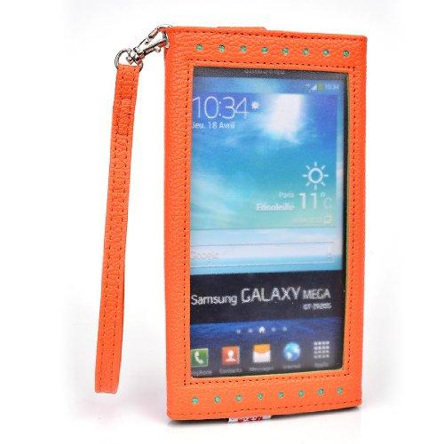 EXPOSE' Series: Orange Green Clutch Wallet Phone Holder May Fit Nokia Lumia 1520 NuVur ™ |ESXLEXG1|