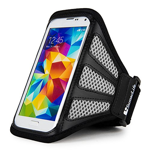 SumacLife Gray Mesh Snug Fit Sweat Resistant Cell Phone Armband Suitable for Apple iPhone X / 8/7 / iPod Touch