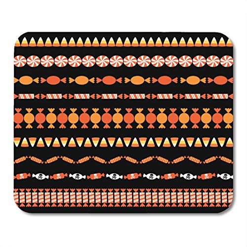 Boszina Mouse Pads Clipart Corn Halloween Candy Border Patterns Autumn Edge Mouse Pad for notebooks,Desktop Computers mats 9.5