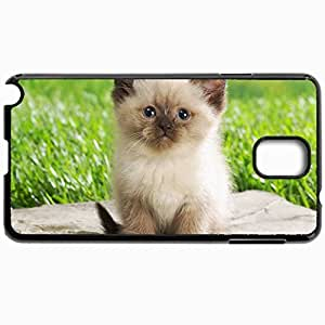 Customized Cellphone Case Back Cover For Samsung Galaxy Note 3, Protective Hardshell Case Personalized Cats Persian Cats Black