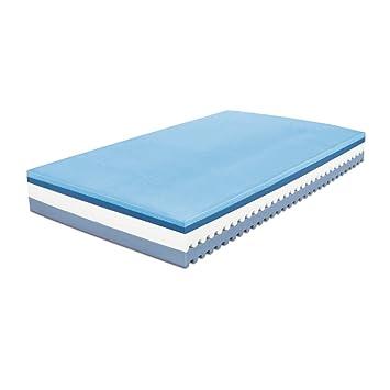 Baldiflex - Colchón de espuma viscoelástica con 7 zonas diferenciadas y funda extraíble Plus Top Air