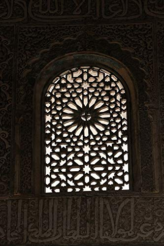 Home Comforts Peel-n-Stick Poster of Granada Spain Andalusia Alhambra Palace Window Vivid Imagery Poster 24 x 16 Adhesive Sticker Poster Print